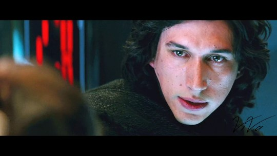 This is a photo from the original Star Wars The Force Awakens. If you look closely you can see there are hearts in Kylo Ren's eyes (when looking at Rey)