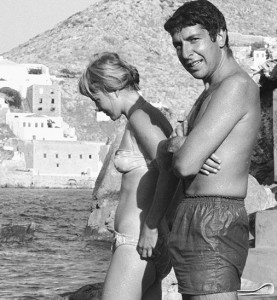 Marianne and Leonard in Hydra, Greece